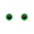 Глаза клеевые 12 мм 28543 (уп. 4 пары) зелёный 557282
