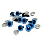 Глаза пластиковые 28695 с фиксатором №4; 8*14 мм (уп. 5 пар) голубой 541422