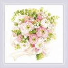 Набор для вышивания Риолис №1867 «Свадебный букет» 25*25 см
