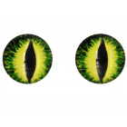 Глаза клеевые 16 мм AR 1062 (уп. 5 пар) 1-3 жёлто-зелёный 7728288