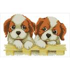 Алмазная мозаика D 2851 «Два щенка»