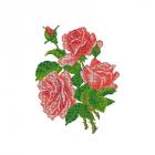 Ткань для вышивания бисером МП 4509 «Три розы» 28*34 см