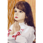 Рисунок на канве МП (24*35 см) 0878 «Детские мольбы»