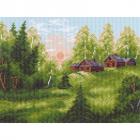 Рисунок на канве МП (28*34 см) 0977 «Летняя деревня»