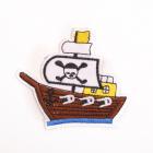 Термоаппликация LА394 Пиратский корабль 7,5*6 см