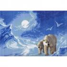 Рисунок на канве МП (33*45 см) 0531 «Белые медведи»