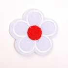 Термоаппликация LА385 Цветок 5*5 см белый