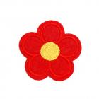 Термоаппликация LА385 Цветок 5*5 см красный