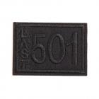 Термоаппликация LА399 «501» 4,5*3,5 см черный