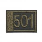 Термоаппликация LА399 «501» 4,5*3,5 см зеленый