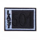 Термоаппликация LА399 «501» 4,5*3,5 см синий
