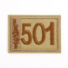 Термоаппликация LА399 «501» 4,5*3,5 см коричневый