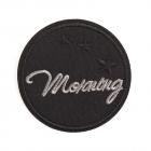 Термоаппликация LА415 Morning 6,5 см черный/серебро