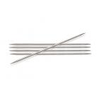 Спицы носочные Knit Pro  Nova Metal  3,5мм/ 20 см  10107 никелированная латунь