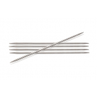 Спицы носочные Knit Pro  Nova Metal  3 мм/ 20 см 10119 никелированная латунь