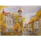 Рисунок на канве МП (37*49 см) 1758 «Московские улочки. Улица Рождественка»