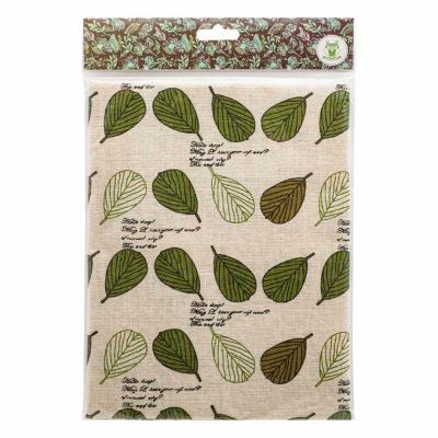 Ткань 50*50 см «Декор 7/01 » (50 % лен 50% хлопок) 25080 белый/зеленый в интернет-магазине Швейпрофи.рф