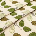 Ткань 50*50 см «Декор 7/01 » (50 % лен 50% хлопок) 25080 белый/зеленый