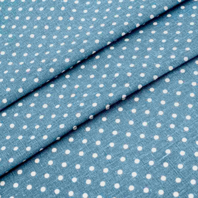 Ткань 50*50 см «Декор 4/05 » (50 % лен 50% хлопок) 25097 синий/белый в интернет-магазине Швейпрофи.рф