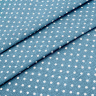 Ткань 50*50 см «Декор 4/05 » (50 % лен 50% хлопок) 25097 синий/белый