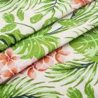 Ткань 50*50 см «Декор 10/08 » (50 % лен 50% хлопок) 28497 зеленый/оранжевый