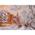 Рисунок на канве МП (37*49 см) 1488 «Зимний город»