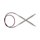 Спицы круговые Knit Pro  Nova Metal  40 см 4 мм/   10353 никелированная латунь