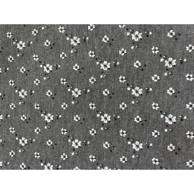 Ткань 48*50 см 120 г/м2 FD «Цветочки-1» 80% п/э 20% хлопок 25895 т.серый 541829 в интернет-магазине Швейпрофи.рф