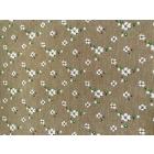 Ткань 48*50 см 120 г/м2 FD «Цветочки-1» 80% п/э 20% хлопок 25896 коричневый 541828