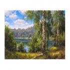 Картина по номерам Molly КН0645  Прищепа. «Лесное озеро» 40*50 см