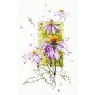 Набор для вышивания Чудесная Игла  №100-101 «Эхинацея» 14*23 см