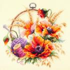 Набор для вышивания Чудесная Игла  №100-123 «Маки для искусницы» 25*25 см