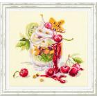 Набор для вышивания Чудесная Игла  №120-081 «Вишневый десерт» 17*17 см