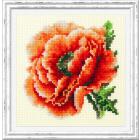 Набор для вышивания Чудесная Игла  №150-012 «Мак» 11*11 см