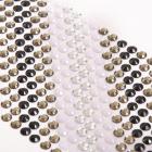 Стразы клеевые на листе 6 мм (уп. 504 шт.) серебро / белый / черный