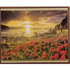 Алмазная мозаика DIY К-1691 «Закат на море» 28*38 см