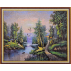 Алмазная мозаика DIY К-1731 «Горная река» 28*38 см