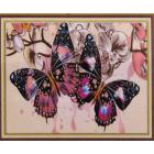 Алмазная мозаика DIY К-1077 «Две бабочки» 28*38 см