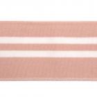 Подвяз трикотажный п/эTBY73006 пыльно-розовый с белыми полосами 6*80см