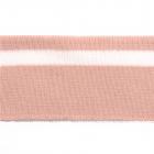 Подвяз трикотажный п/эTBY73069 пыльно-розовый с белой полосой 3,5*80см