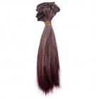 Волосы для кукол (трессы) Прямые 26309 длина 17 см ширина 100см бордовый/пепельный 506430