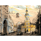 Рисунок на канве МП (37*49 см) 1800 «Москва, ул. Солянка»