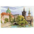Рисунок на канве МП (37*49 см) 1634 «Прага. Башня Карлова моста»