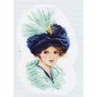 Рисунок на канве МП (37*49 см) 1147 «Девушка в шляпе»