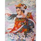 Рисунок на канве МП (33*45 см) 0373 «Японка с сакурой»