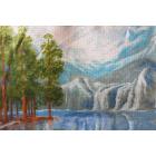 Рисунок на канве МП (33*45 см) 0667 «Сосны у горного озера»
