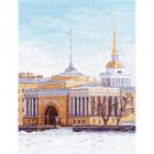 Рисунок на канве МП (33*45 см) 1151 «Набережная Санкт-Петербурга»
