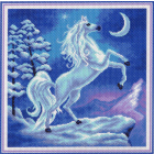 Рисунок на канве МП (41*41 см) 1034 «Волшебство» (конь)