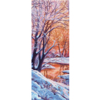 Рисунок на канве МП (40*90 см) 1363 «Зимний вечер»