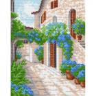 Рисунок на канве МП (24*30 см) 0842 «Улица Цветочная»